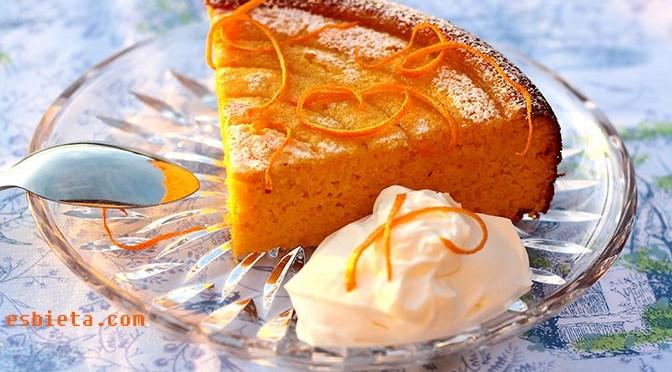 Pastel bizcocho de naranja y harina de almendra paso a paso for Bizcocho para dieta adelgazar