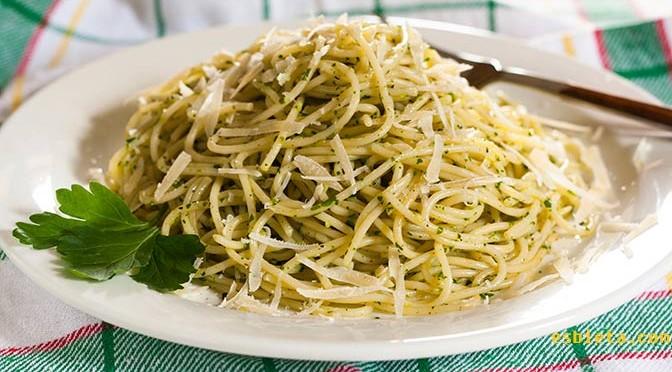 Recetas de salsas for Espaguetis con ajo y perejil