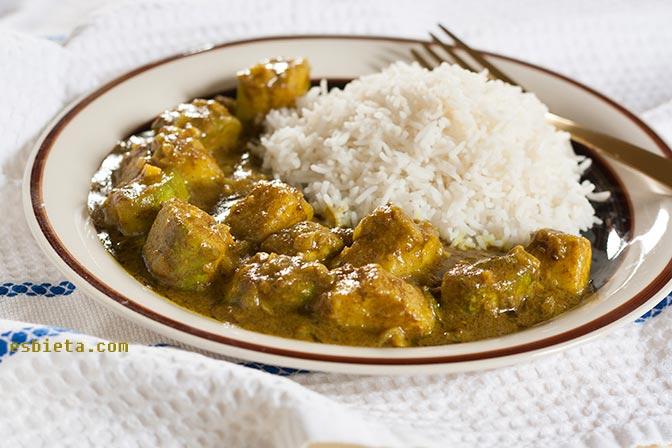 Receta de curry de calabacín