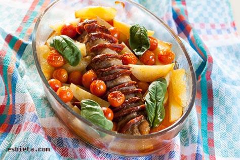 Solomillo de cerdo con chorizo buenisimo - Como preparar un solomillo de cerdo al horno ...