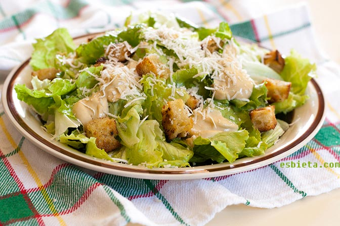Ensalada Cesar Receta Related Keywords & Suggestions - Ensalada Cesar ...
