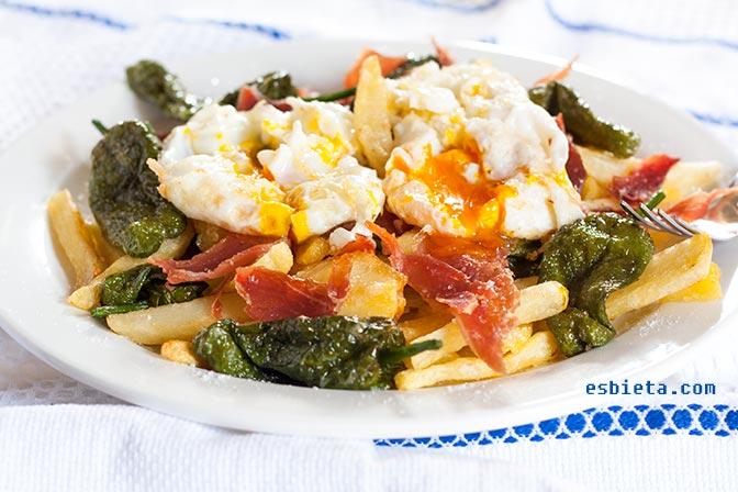 Huevos rotos – Huevos estrellados