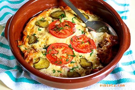 pan con jamón y queso al horno