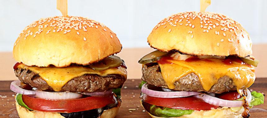 Hamburguesa casera americana auténtica ¡La mejor!