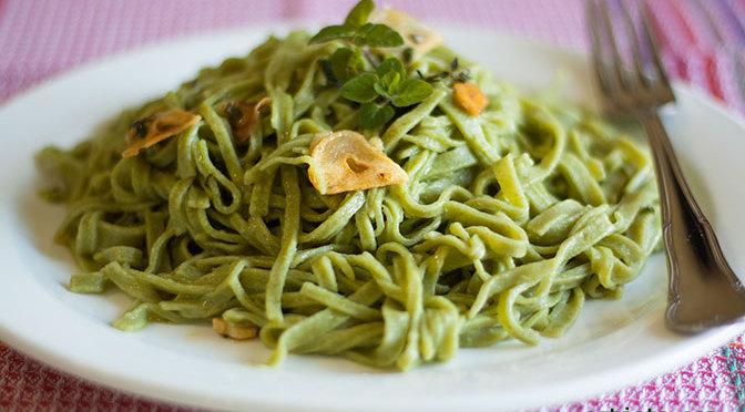 pasta fresca de espinacas