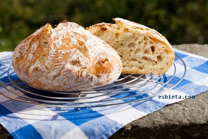 Como hacer pan casero ¡sin amasar! Receta muy fácil.