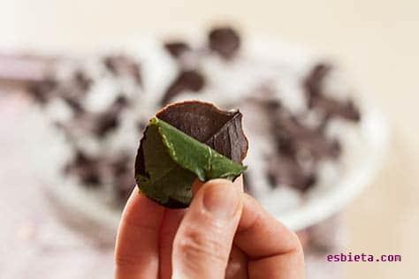 adornos de chocolate