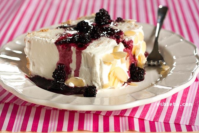 Angel food cake sin cremor tartaro y sin molde especial
