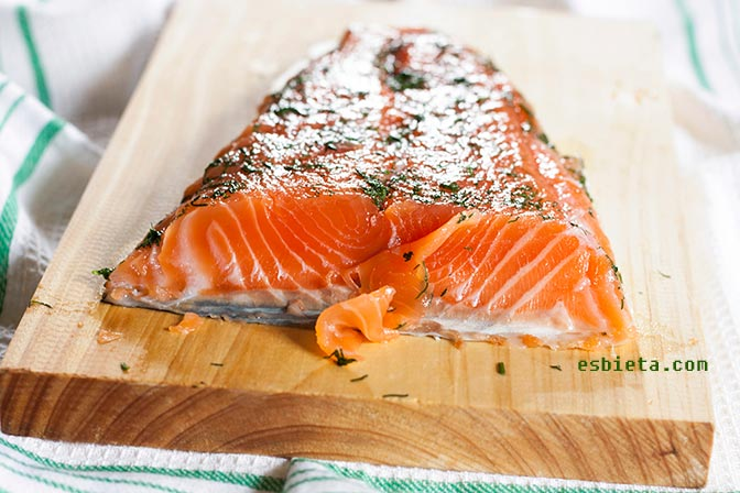 salmón marinado