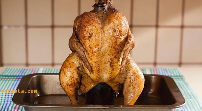 pollo asado con cerveza
