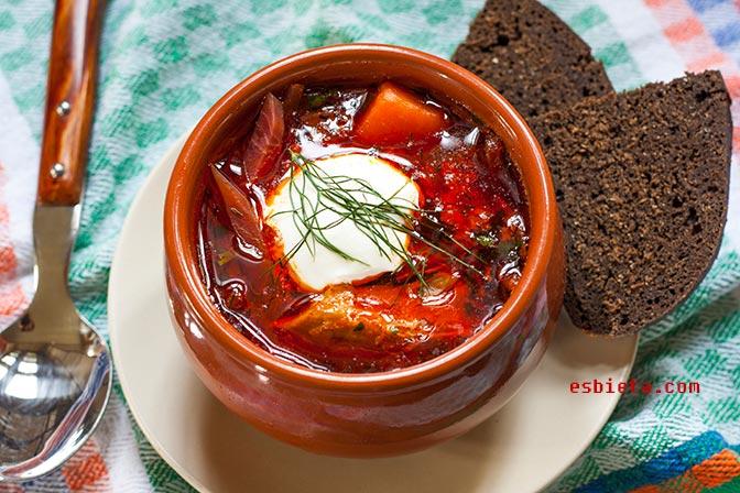 Sopa Borsch – Sopa de remolacha