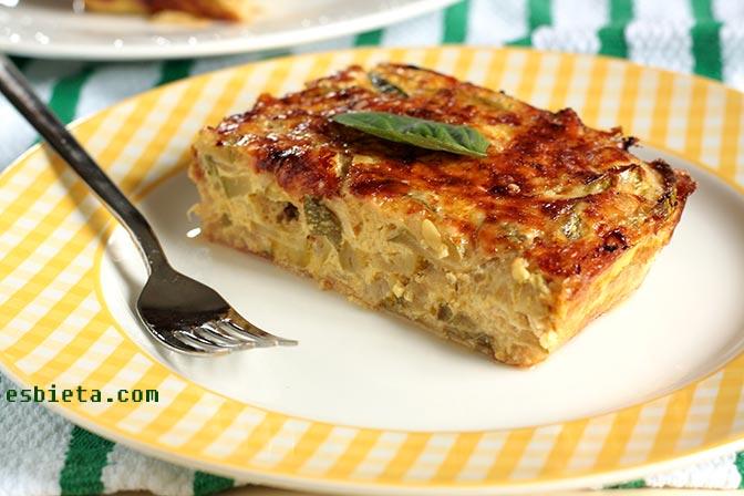 Pastel de calabacín y queso