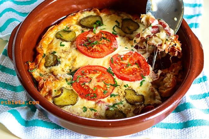 pan con hamón y queso