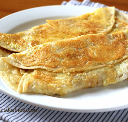 desayuno rápido con tortillas de trigo