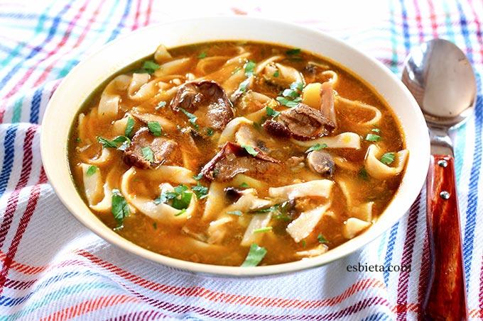 sopa de setas