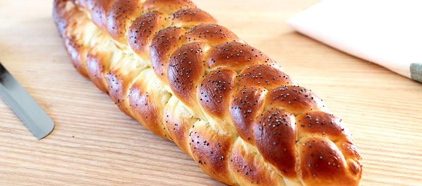 Pan de leche trenzado ¡Suave y tierno!
