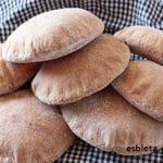 Pan de pita o pan árabe integral 100% ¡Trucos!