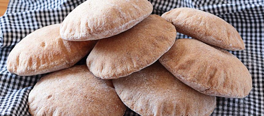 Pan de pita integral 100% – Pan árabe ¡Trucos!