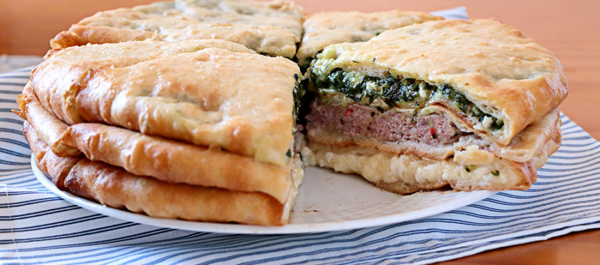 Empanada de 3 rellenos osetia – ¡700 años de antigüedad!