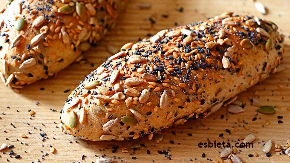Resultado de imagen de pan con semillas