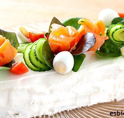 pastel de salmon frio