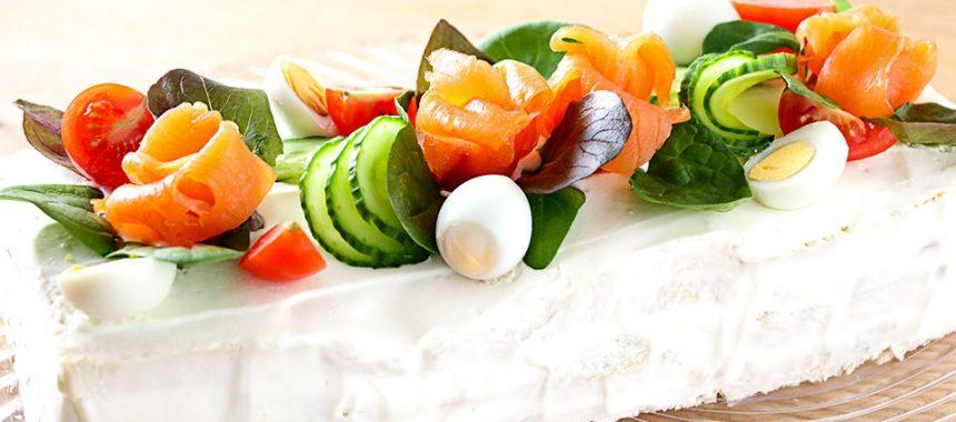 Pastel de salmón frío. Receta fácil y rápida