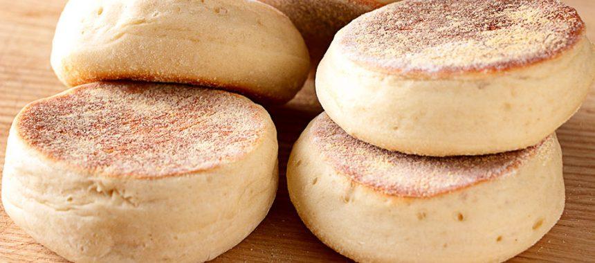 Muffin inglés – Pan casero sin horno ¡en sartén!