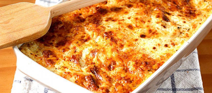 Macarrones «Perezosos» con queso y chorizo