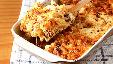 macarrones queso chorizo