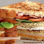 Cómo hacer sándwich club - Receta fácil y rica