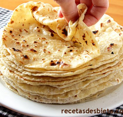 tortillas de harina queso y papa