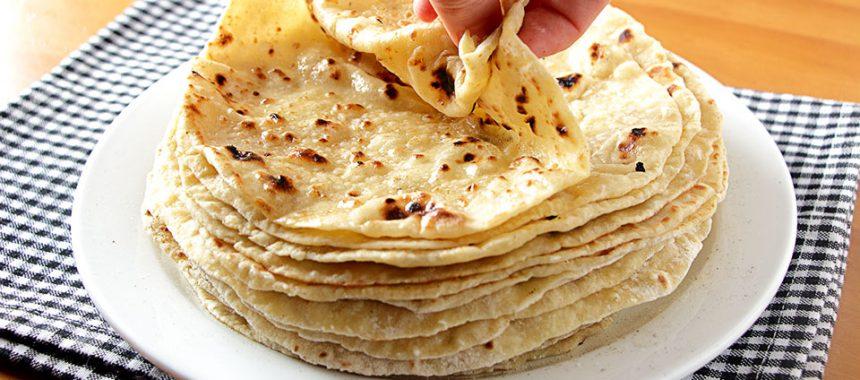 Tortillas de harina, queso y papa ¡extra tiernas!