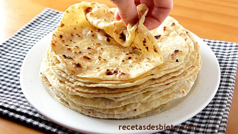 tortillas de harina queso y papa