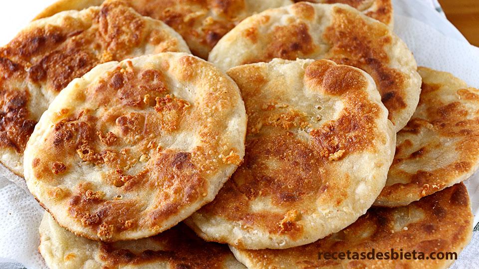 tortillas de trigo y queso