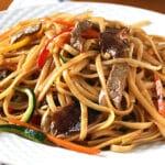 Espaguetis estilo chino. Receta fácil y rápida