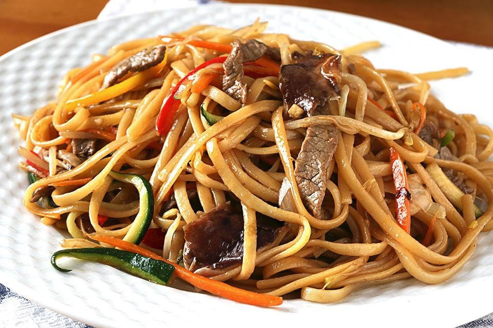 espaguetis chinos