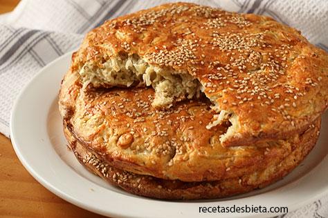 tortillas de trigo y cebolla
