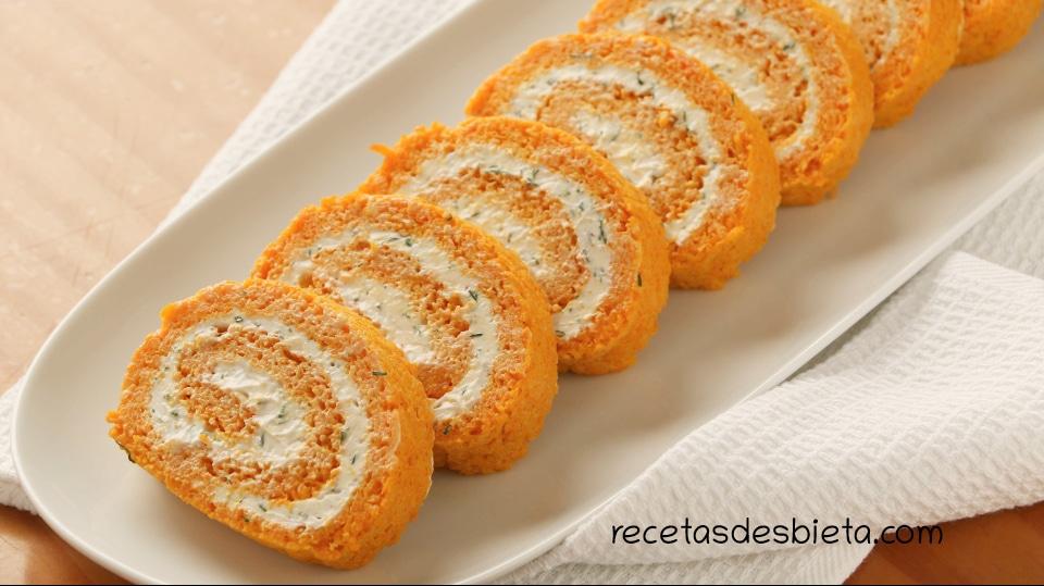 pastel frío de zanahoria