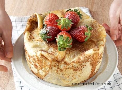 tarta de crepes