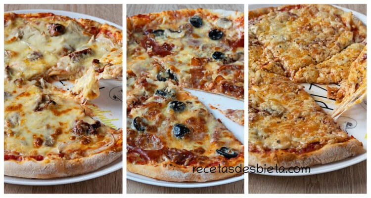 3 recetas de masa de pizza