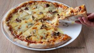 masa pizza con reposo en la nevera