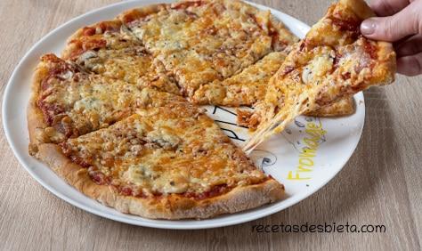 masa de pizza cocción de patatas